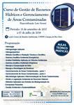 Curso de Especialização (Lato Sensu)- Gestão de Recursos  Hídricos e Gerenciamento  de Áreas Contaminadas