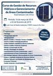 CURSO DE GESTÃO DE RECURSOS  HÍDRICOS E GERENCIAMENTO  DE ÁREAS CONTAMINADAS (ESPECIALIZAÇÃO LATO SENSU)