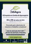 III SIMPÓSIO EM GESTÃO DO AGRONEGÓCIO