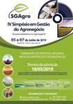 IV SIMPÓSIO EM GESTÃO DO AGRONEGÓCIO  - SGAGRO 2019