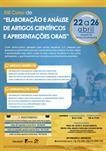 """XIII CURSO DE """"ELABORAÇÃO E ANÁLISE  DE ARTIGOS CIENTÍFICOS E APRESENTAÇÕES ORAIS"""""""