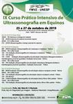 IX CURSO PRÁTICO INTENSIVO DE ULTRASSONOGRAFIA EM EQUINOS