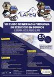 VIII CURSO DE IMERSÃO À FISIOLOGIA DO EXERCÍCIO EM EQUINOS