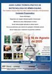 XXXIV CURSO TEÓRICO-PRÁTICO DE BIOTECNOLOGIA DO SÊMEN EQUINO