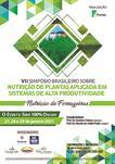 VII SIMPÓSIO BRASILEIRO SOBRE NUTRIÇÃO DE PLANTAS APLICADA EM SISTEMAS DE ALTA PRODUTIVIDADE  -