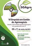 VI SIMPÓSIO EM GESTÃO DO AGRONEGÓCIO - SGAGRO 2020